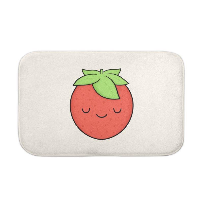 Strawberry Home Bath Mat by Kim Vervuurt