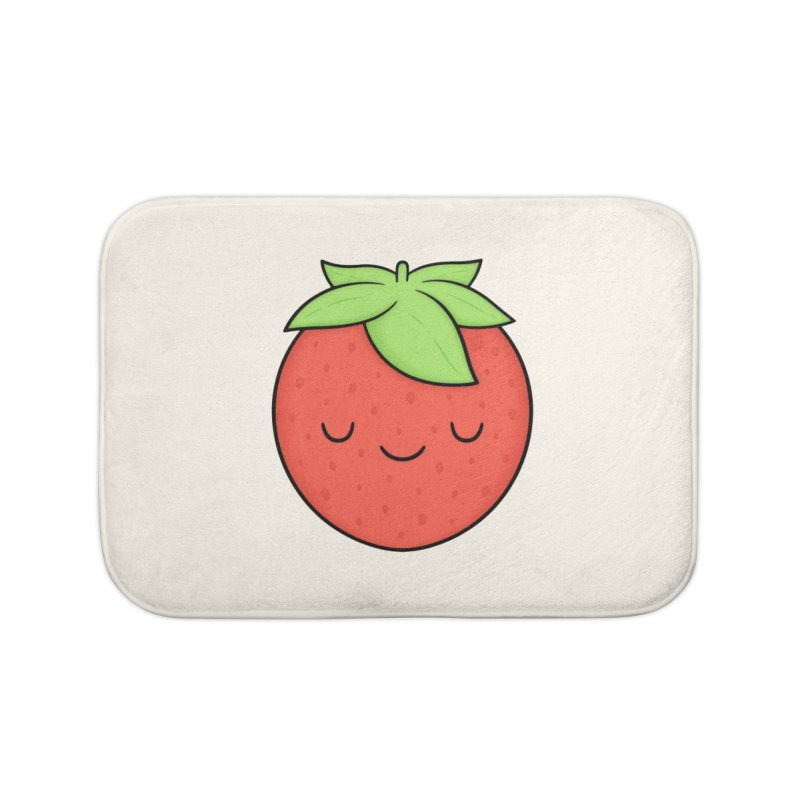 Strawberry Home Bath Mat by Kim Vervuurt