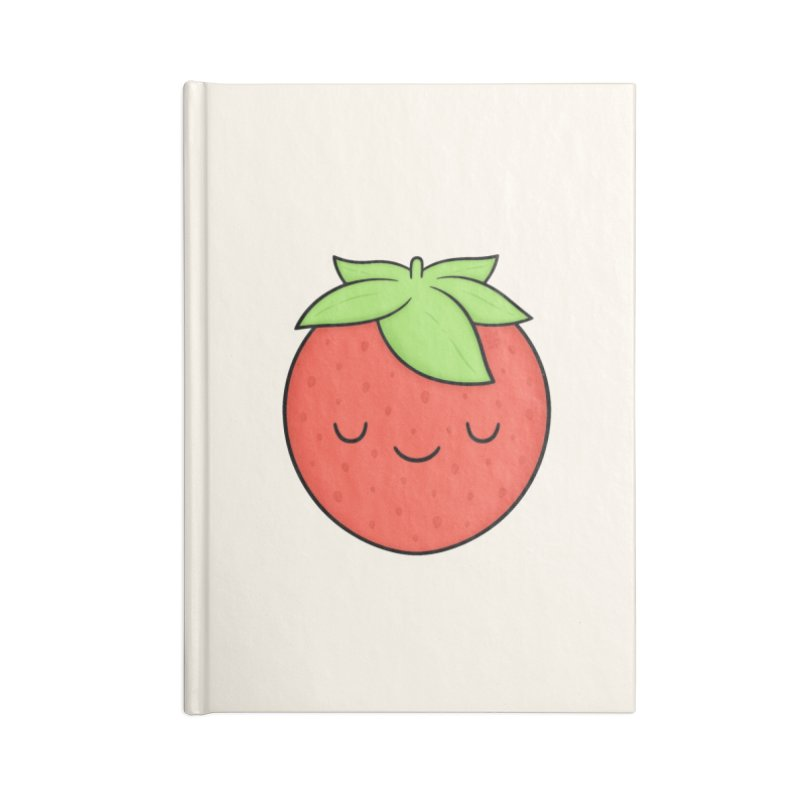 Strawberry Accessories Blank Journal Notebook by Kim Vervuurt