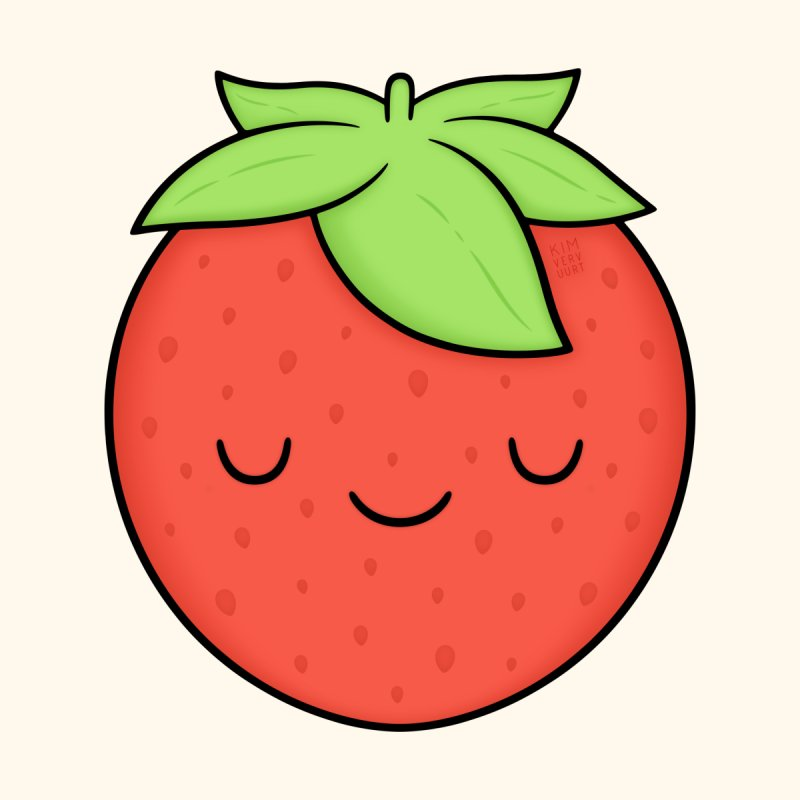 Strawberry Home Throw Pillow by Kim Vervuurt