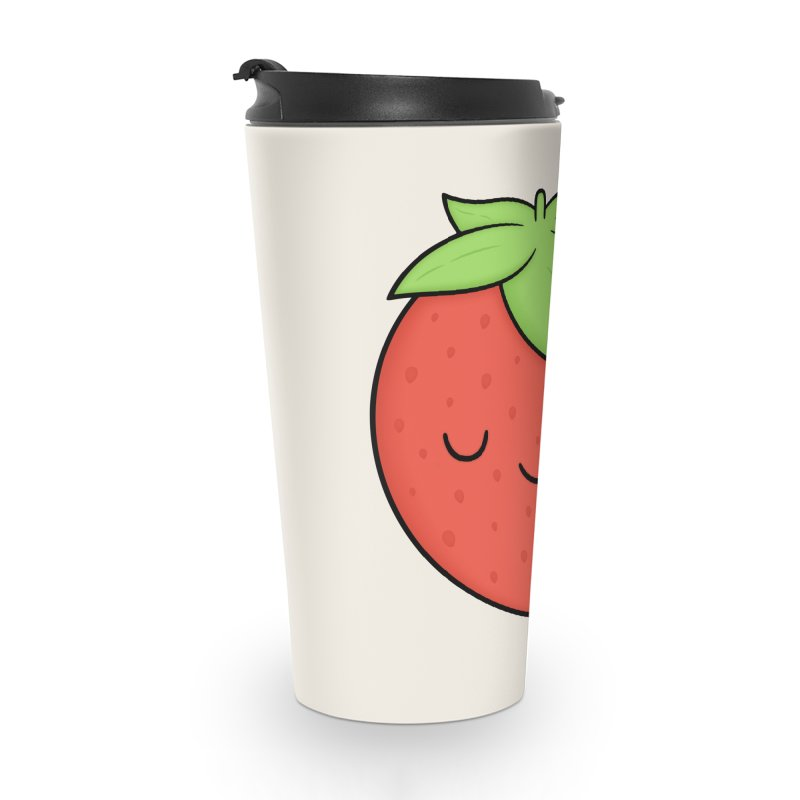 Strawberry Accessories Travel Mug by Kim Vervuurt