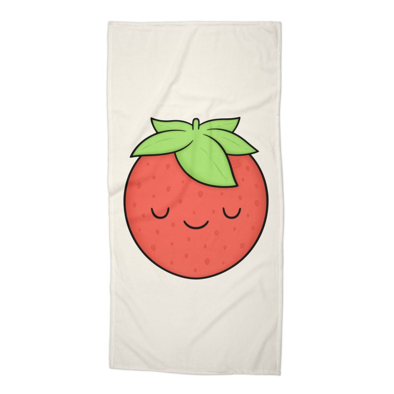 Strawberry Accessories Beach Towel by Kim Vervuurt