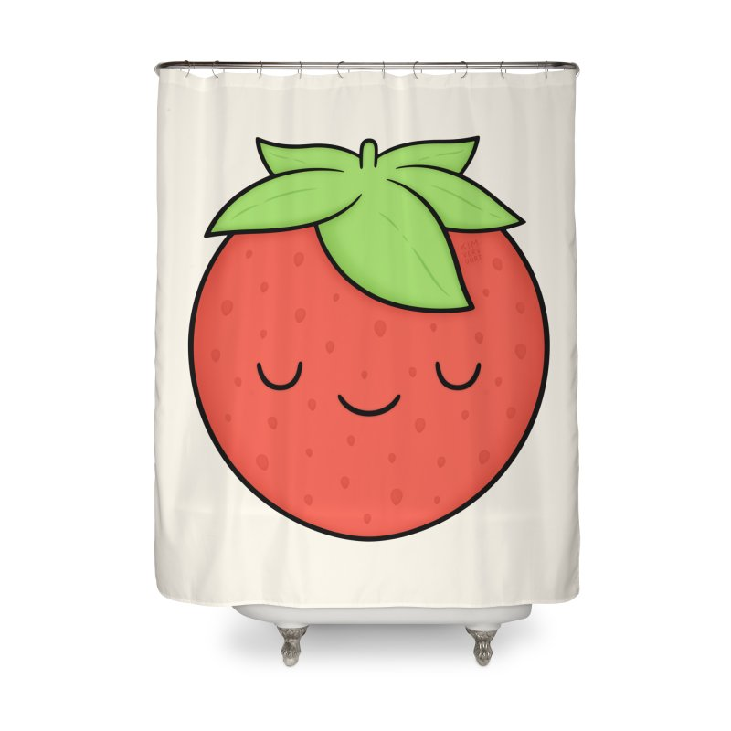 Strawberry Home Shower Curtain by Kim Vervuurt
