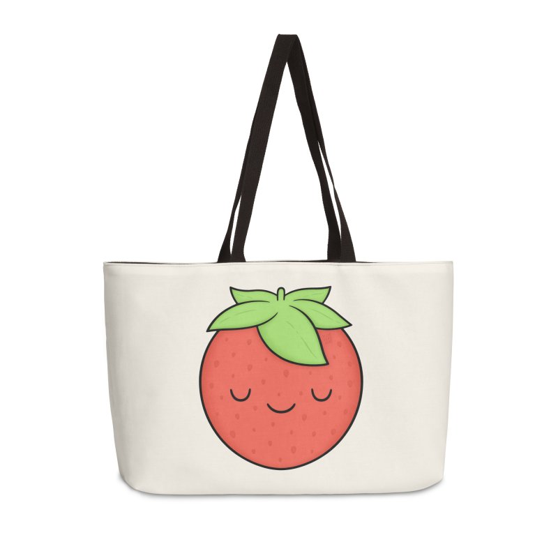 Strawberry Accessories Weekender Bag Bag by Kim Vervuurt