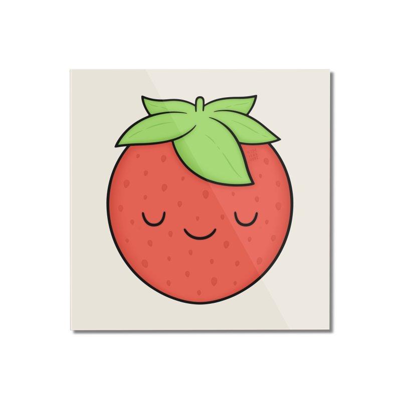 Strawberry Home Mounted Acrylic Print by Kim Vervuurt