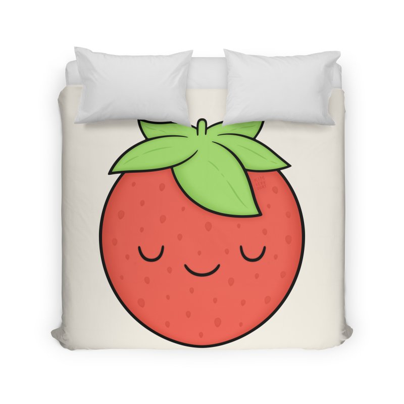 Strawberry Home Duvet by Kim Vervuurt