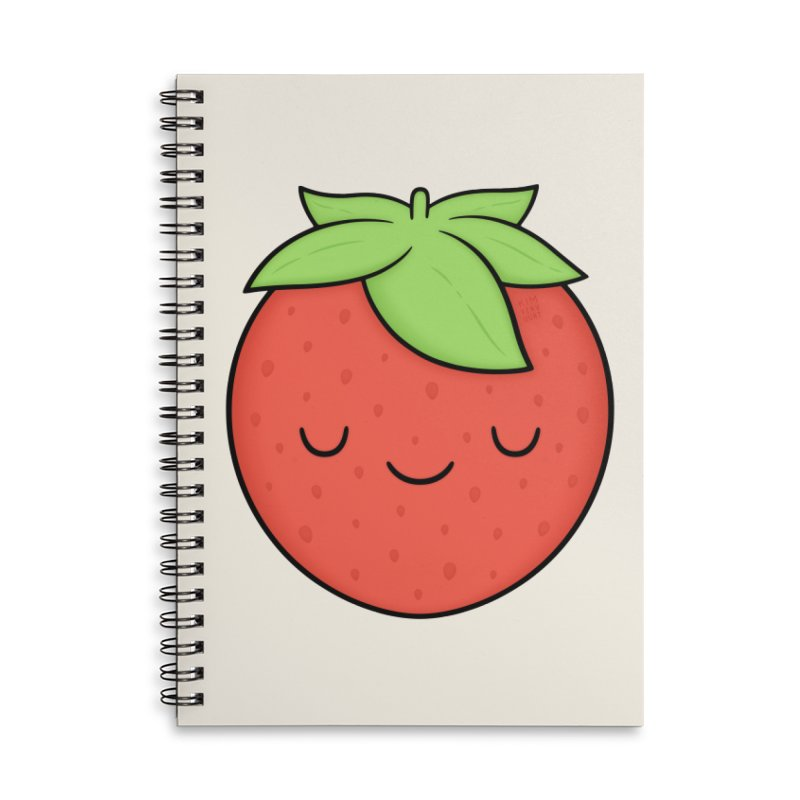 Strawberry Accessories Lined Spiral Notebook by Kim Vervuurt