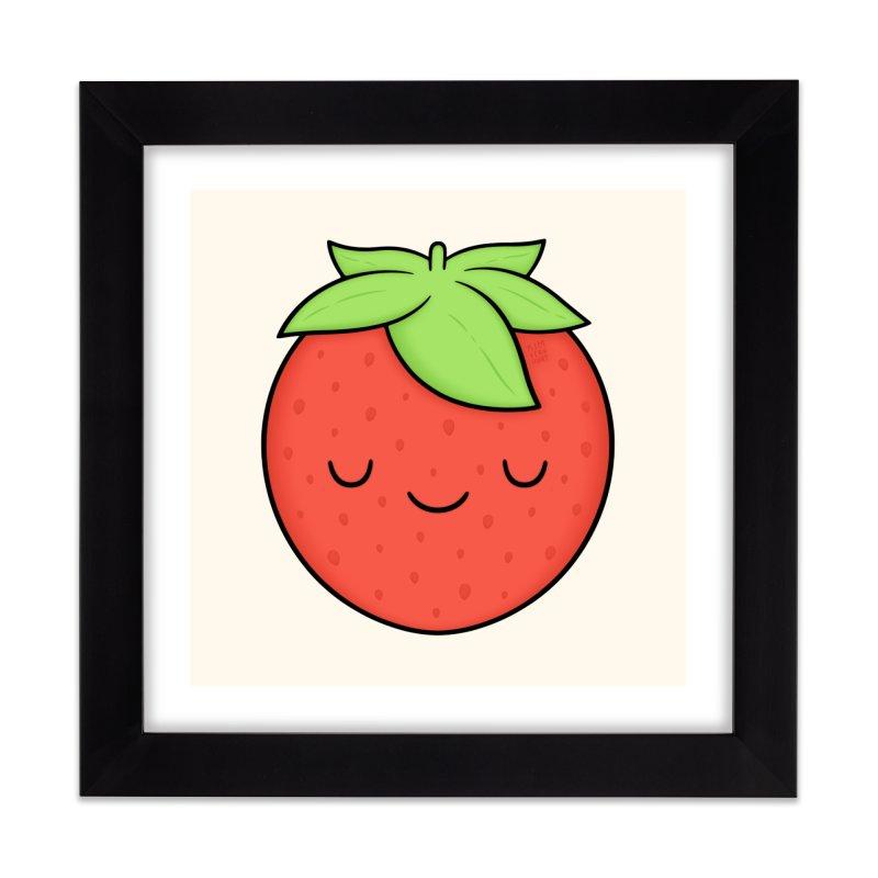 Strawberry Home Framed Fine Art Print by Kim Vervuurt