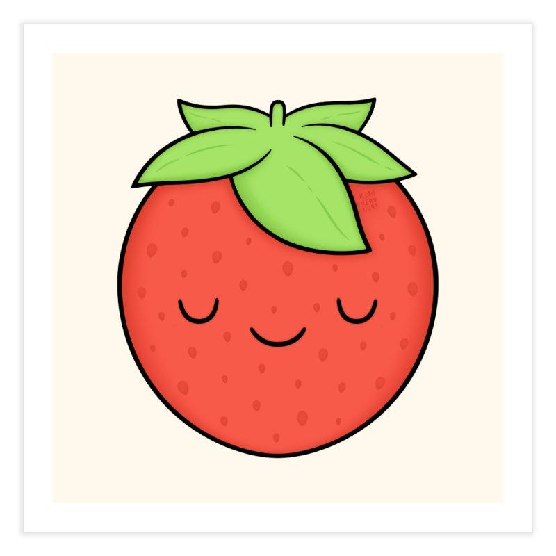 Strawberry Home Fine Art Print by Kim Vervuurt