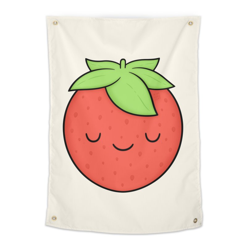 Strawberry Home Tapestry by Kim Vervuurt
