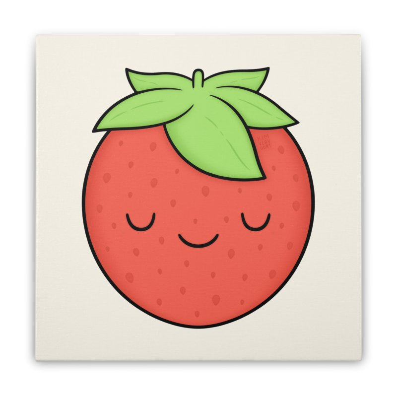 Strawberry Home Stretched Canvas by Kim Vervuurt