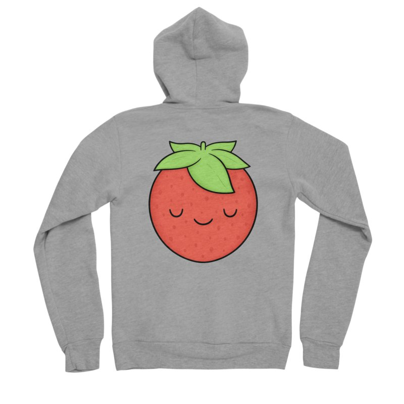Strawberry Men's Zip-Up Hoody by Kim Vervuurt
