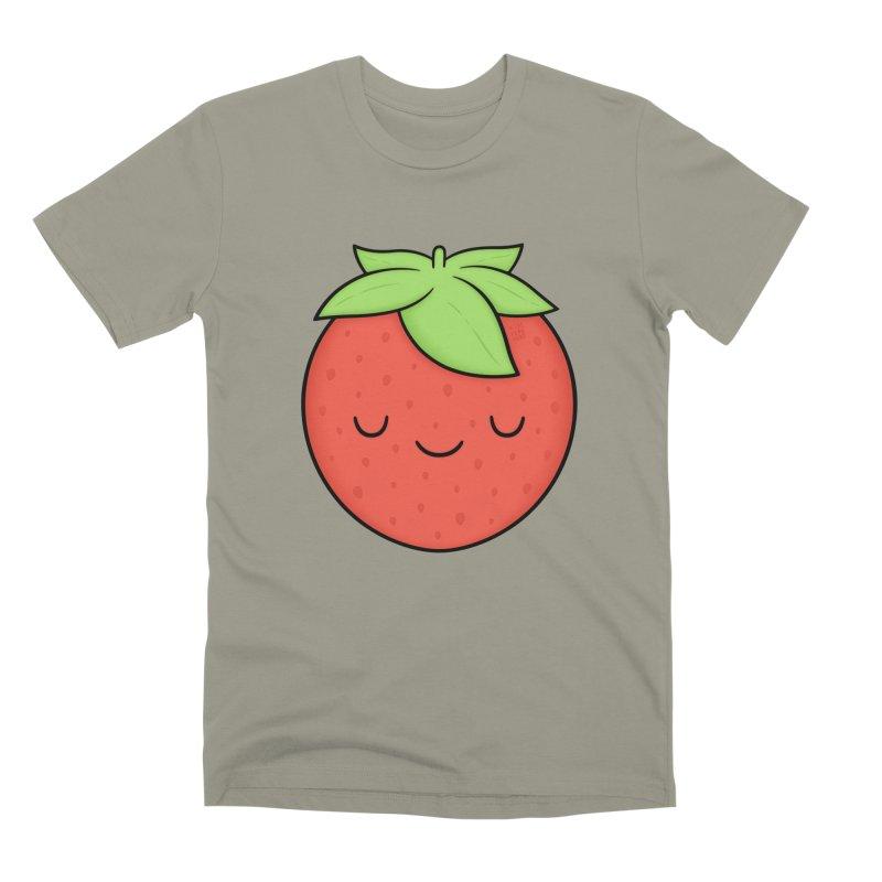 Strawberry Men's Premium T-Shirt by Kim Vervuurt