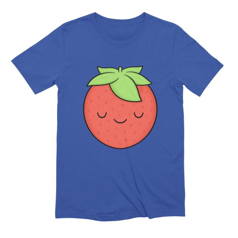 Strawberry Men's Extra Soft T-Shirt by Kim Vervuurt