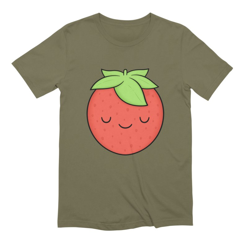 Strawberry Men's Extra Soft T-Shirt by Kim Vervuurt