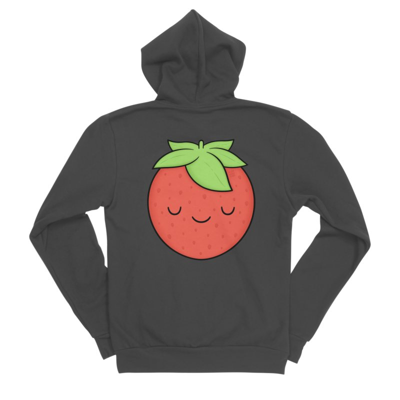 Strawberry Men's Sponge Fleece Zip-Up Hoody by Kim Vervuurt
