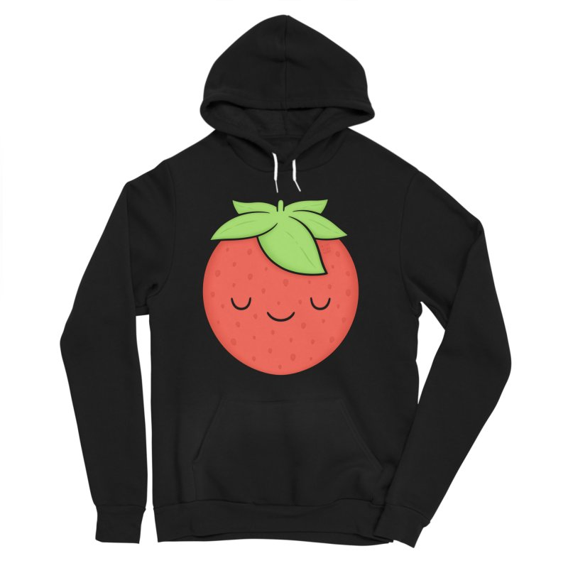 Strawberry Men's Sponge Fleece Pullover Hoody by Kim Vervuurt
