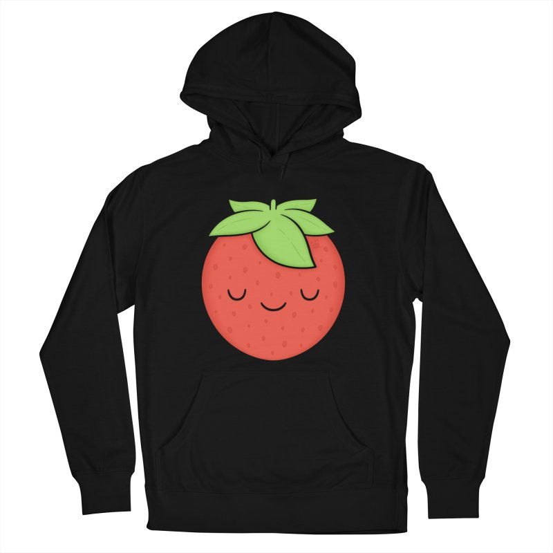 Strawberry Women's French Terry Pullover Hoody by Kim Vervuurt