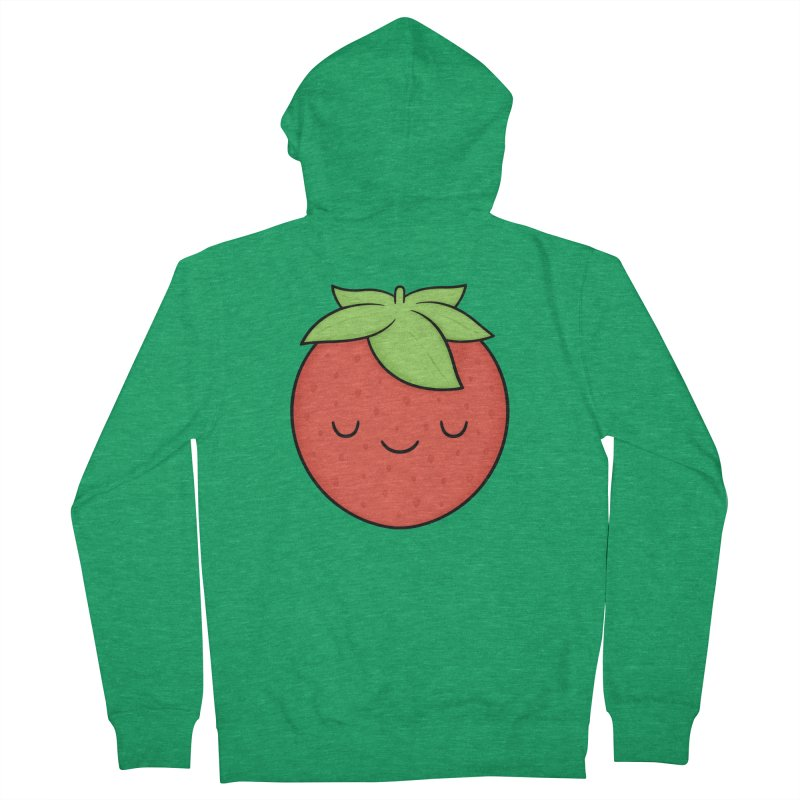 Strawberry Women's Zip-Up Hoody by Kim Vervuurt