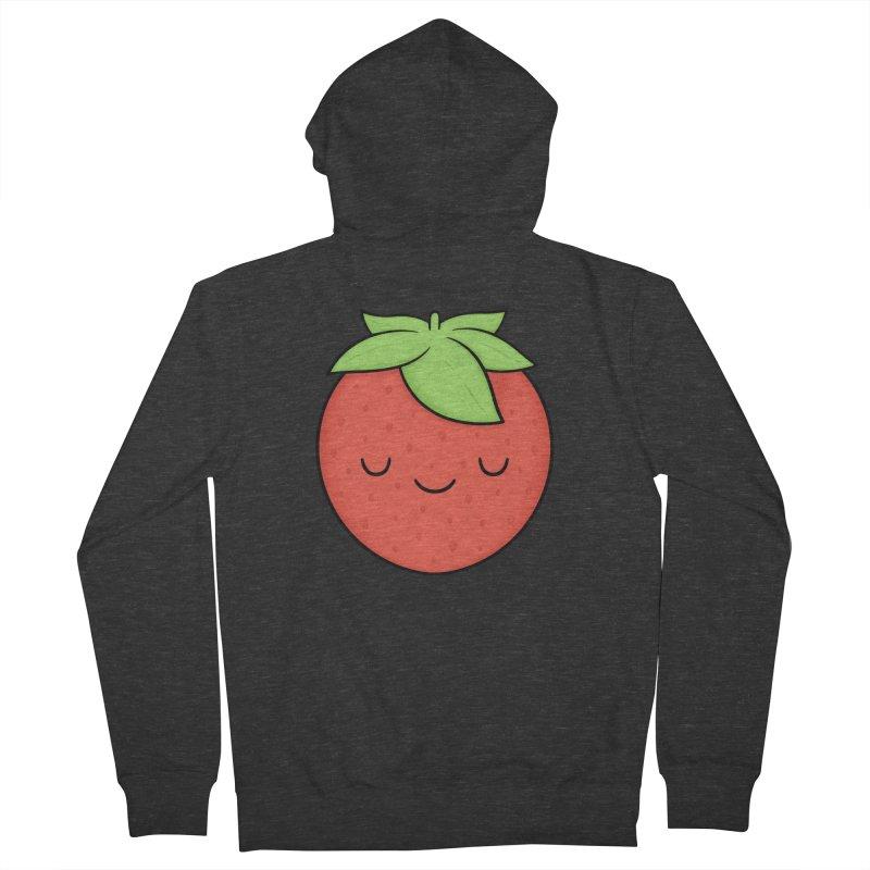 Strawberry Women's French Terry Zip-Up Hoody by Kim Vervuurt