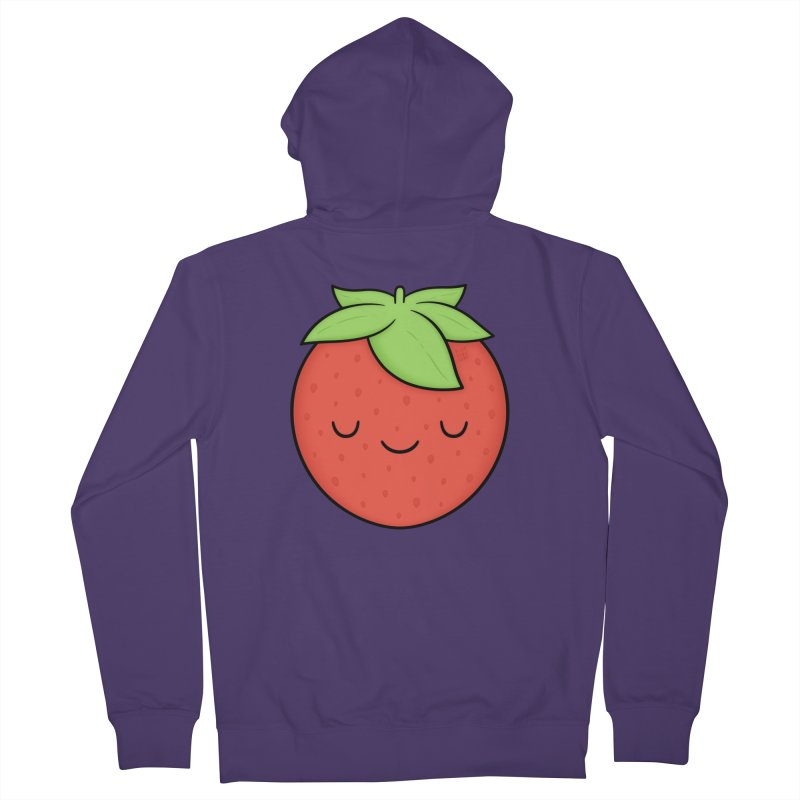 Strawberry Women's French Terry Zip-Up Hoody by Kim Vervuurt