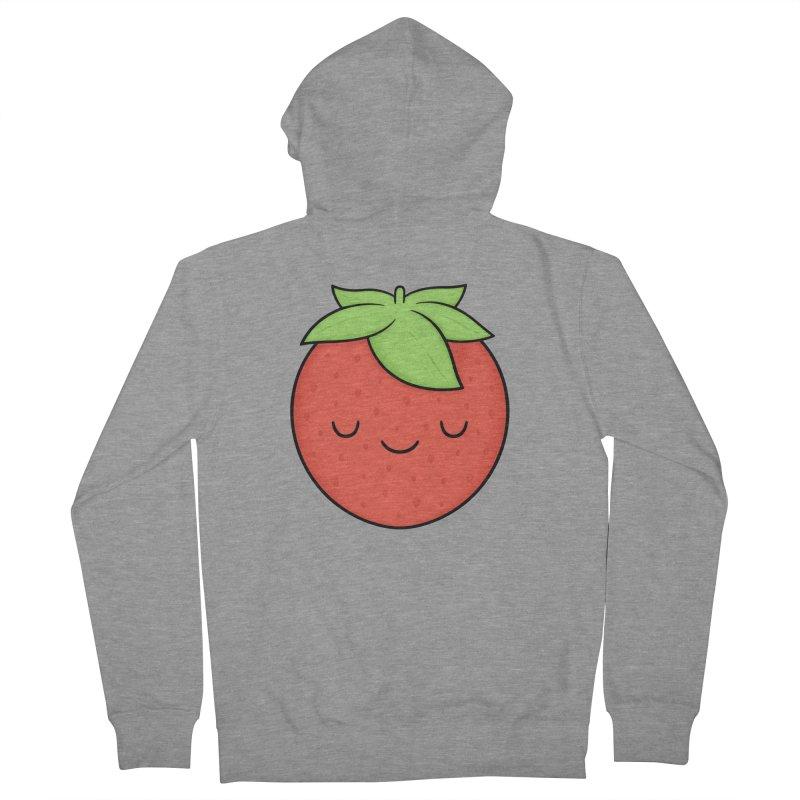 Strawberry Men's French Terry Zip-Up Hoody by Kim Vervuurt