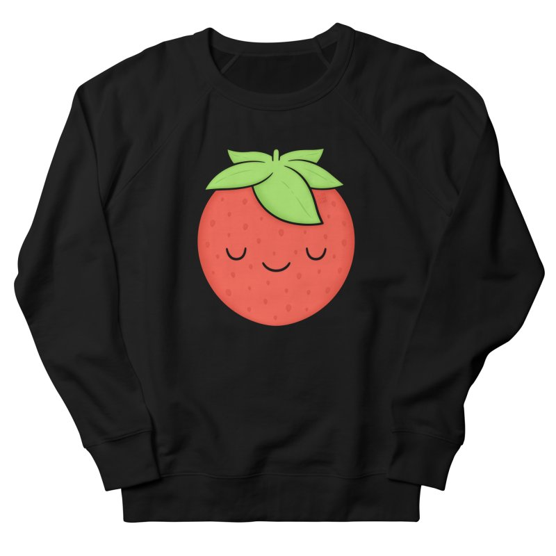 Strawberry Women's French Terry Sweatshirt by Kim Vervuurt