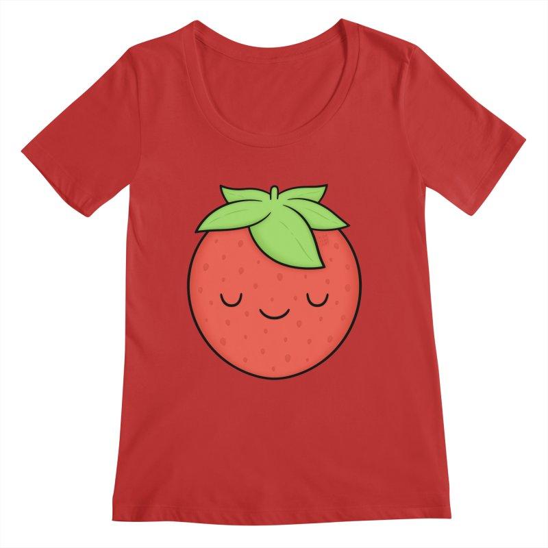 Strawberry Women's Scoop Neck by Kim Vervuurt