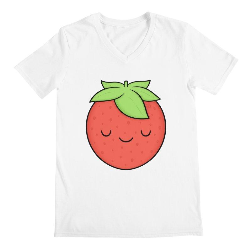 Strawberry Men's V-Neck by Kim Vervuurt