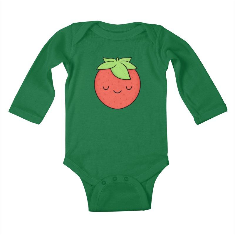 Strawberry Kids Baby Longsleeve Bodysuit by Kim Vervuurt