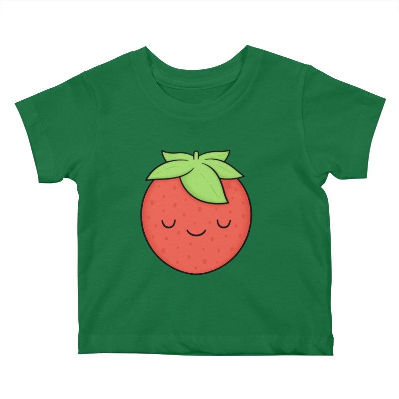 Strawberry Kids Baby T-Shirt by Kim Vervuurt