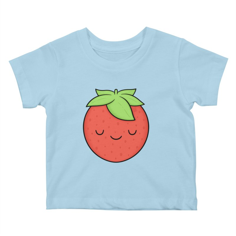 Strawberry Kids Baby T-Shirt by Kim Vervuurt