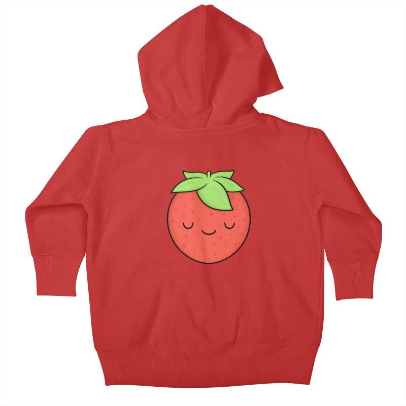 Strawberry Kids Baby Zip-Up Hoody by Kim Vervuurt