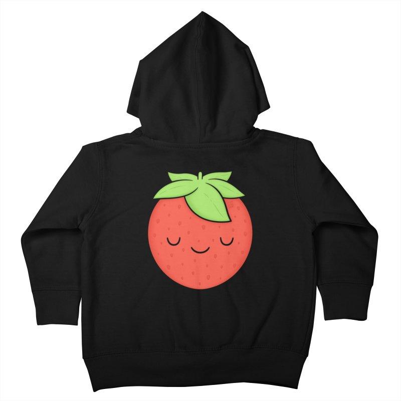 Strawberry Kids Toddler Zip-Up Hoody by Kim Vervuurt