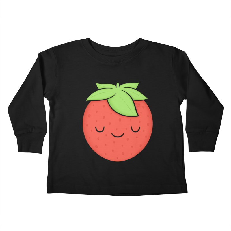 Strawberry Kids Toddler Longsleeve T-Shirt by Kim Vervuurt