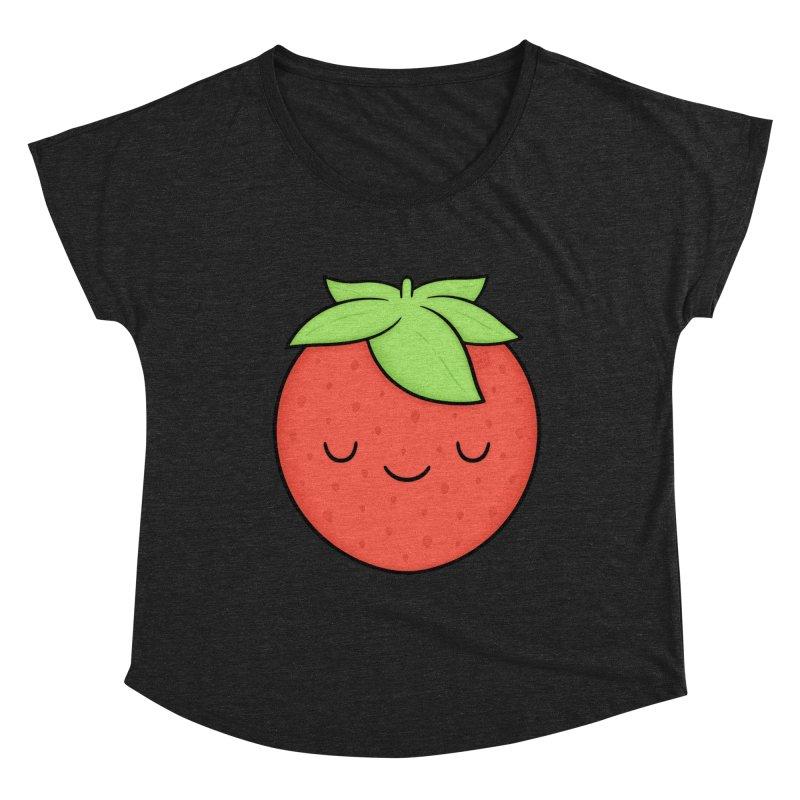Strawberry Women's Dolman Scoop Neck by Kim Vervuurt