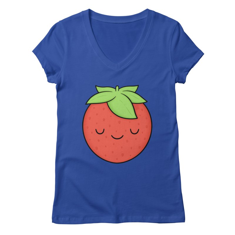 Strawberry Women's V-Neck by Kim Vervuurt