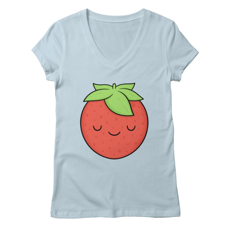 Strawberry Women's V-Neck by Kim Vervuurt
