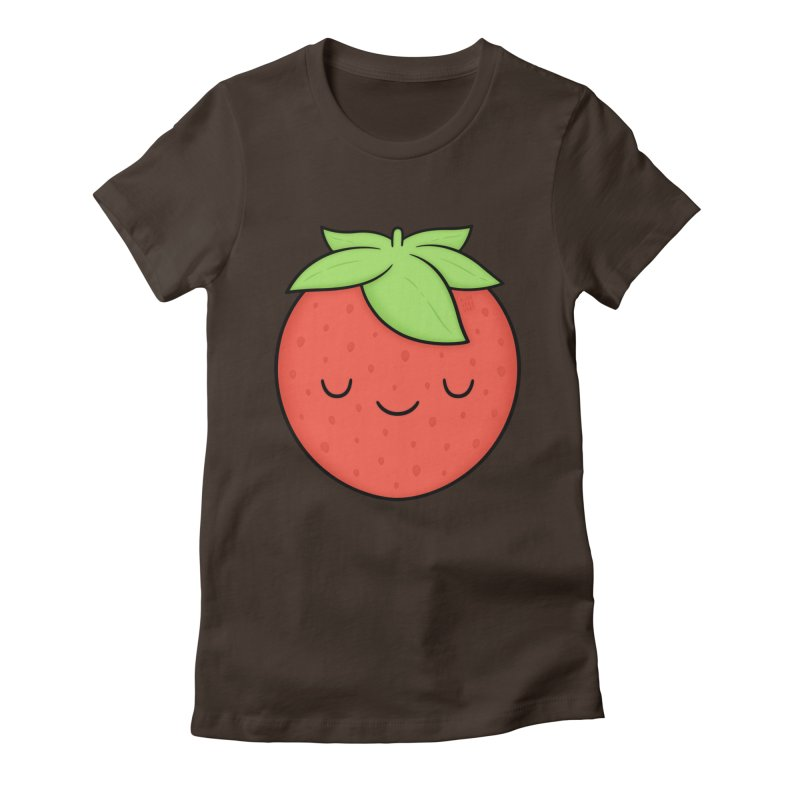 Strawberry Women's Fitted T-Shirt by Kim Vervuurt