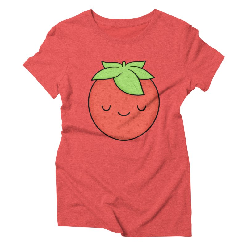 Strawberry Women's Triblend T-Shirt by Kim Vervuurt