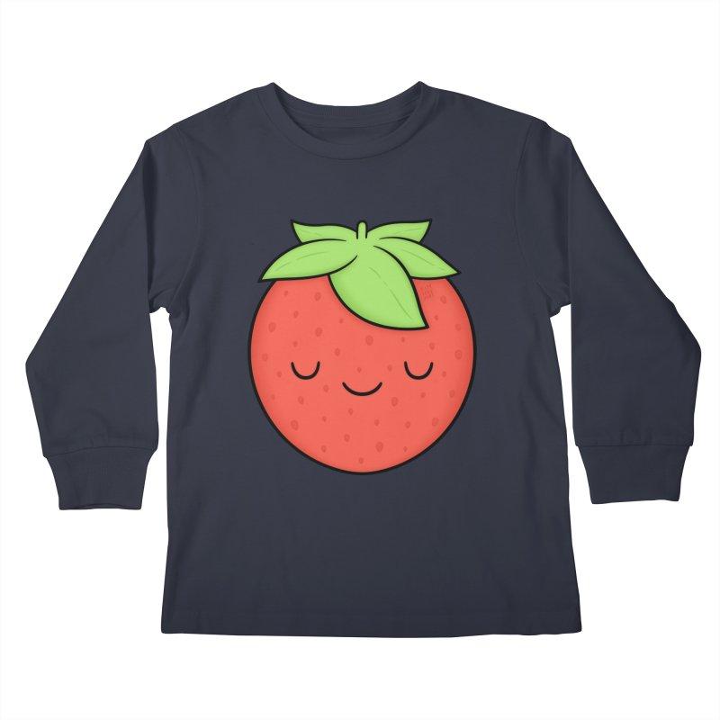 Strawberry Kids Longsleeve T-Shirt by Kim Vervuurt
