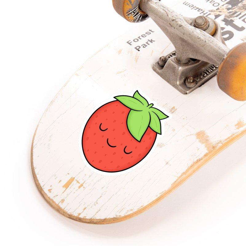 Strawberry Accessories Sticker by Kim Vervuurt
