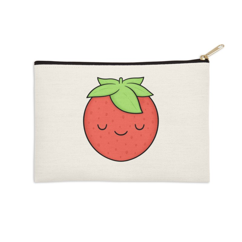 Strawberry Accessories Zip Pouch by Kim Vervuurt