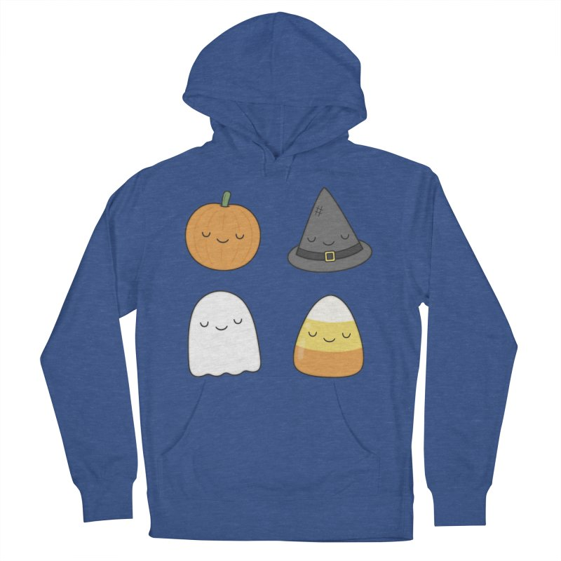 Happy Halloween Men's French Terry Pullover Hoody by Kim Vervuurt