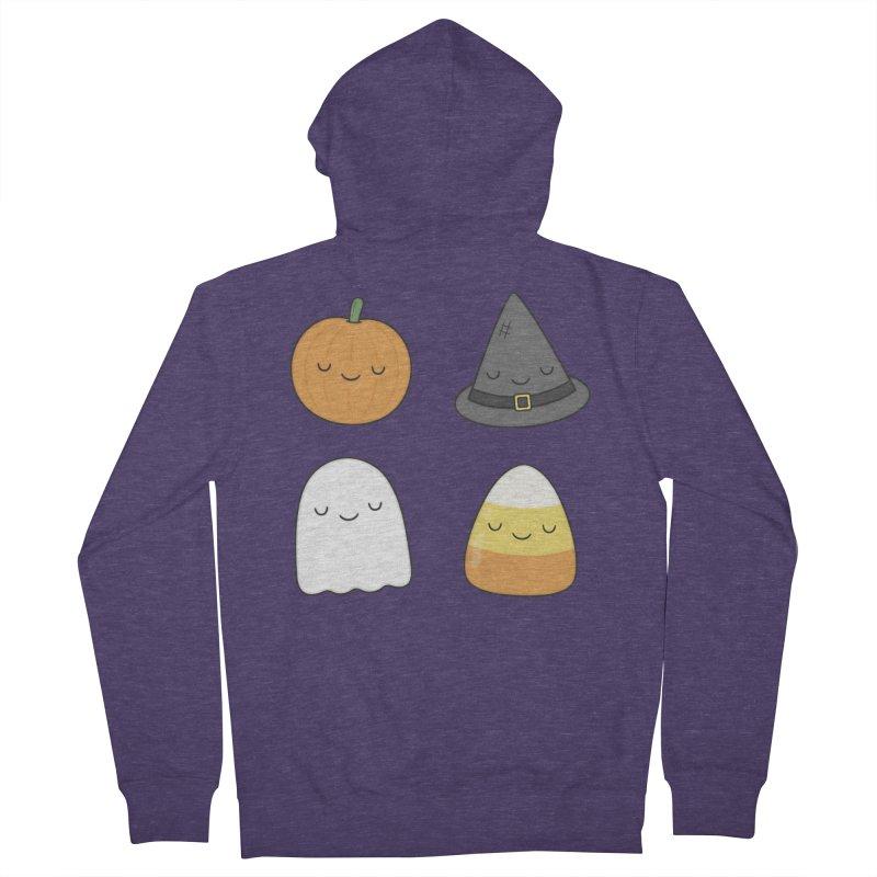 Happy Halloween Men's French Terry Zip-Up Hoody by Kim Vervuurt