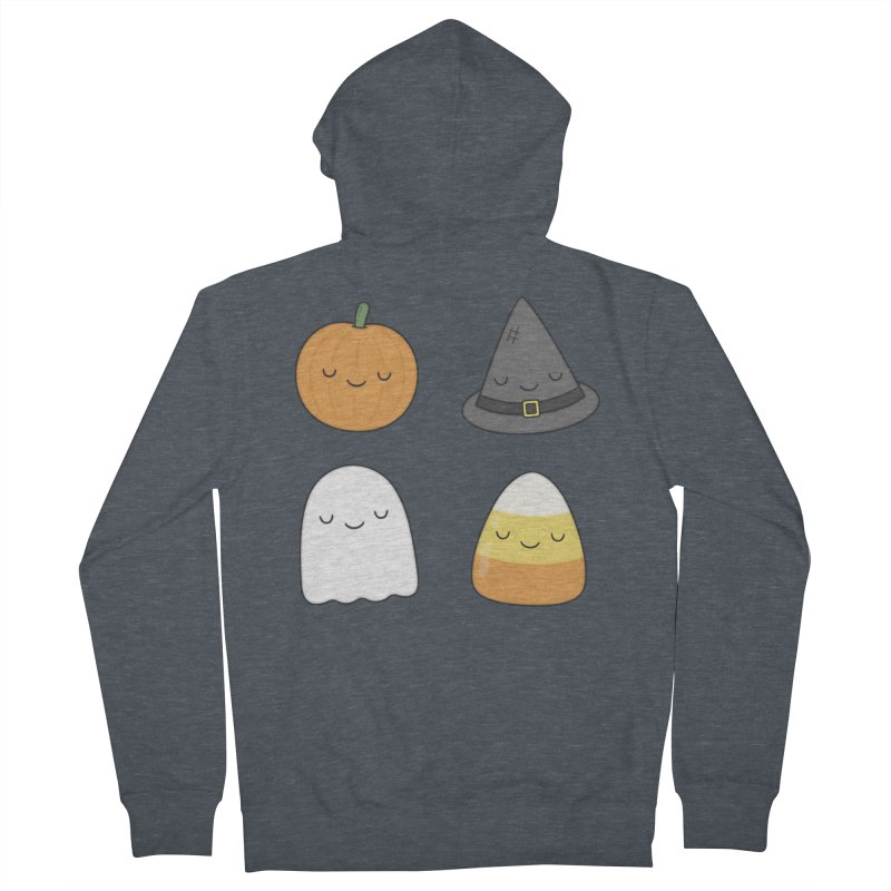 Happy Halloween Men's Zip-Up Hoody by Kim Vervuurt