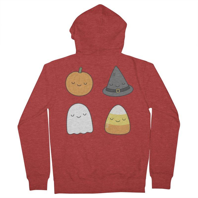 Happy Halloween Men's Zip-Up Hoody by Kim Vervuurt
