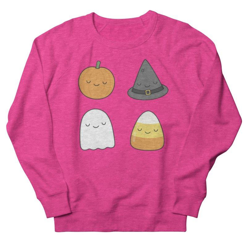 Happy Halloween Women's French Terry Sweatshirt by Kim Vervuurt