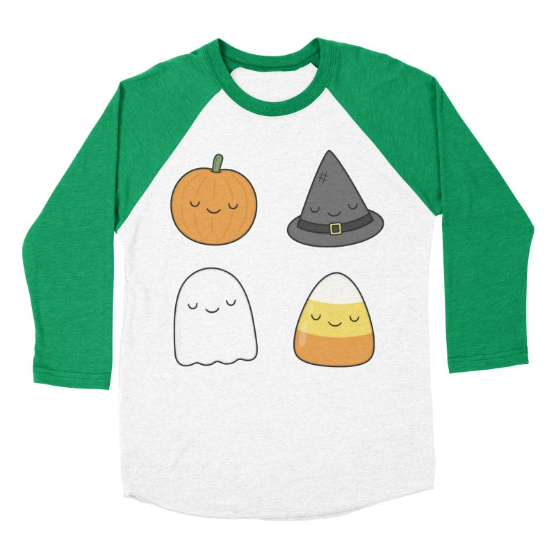 Happy Halloween Women's Baseball Triblend Longsleeve T-Shirt by Kim Vervuurt