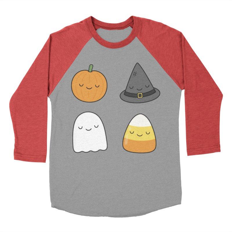 Happy Halloween Men's Baseball Triblend Longsleeve T-Shirt by Kim Vervuurt